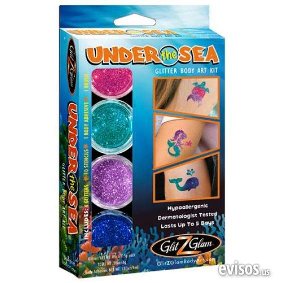 Excellent condition shop under the sea glitter tattoo kit best offer
